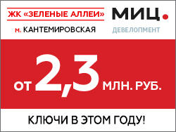 ЖК «Зеленые аллеи». Метро Кантемировская — 15 мин Скидки до 4%!